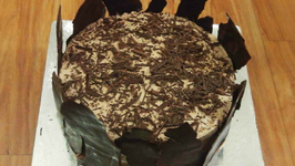 Chocolate Cake Recipe - With Ganache and Mousse - Cooker Cake - Eggless Baking Without Oven