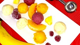 Creamy Sorbets Assorted Video   Pina Colada, Berry Banana and Peach Mango