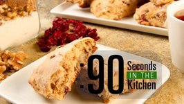 90 Second Cranberry Walnut Scones