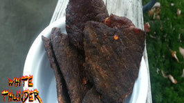 Smoked Beef Jerky- How To Make Beef Jerk On a Mini Weber Smokey Mountain (Mini WSM)