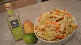 How To Make Jicama, Apple And Pear Slaw