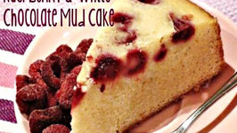 How to make a Raspberry and White Chocolate Mud Cake
