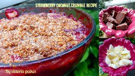 Strawberry Coconut Crumble