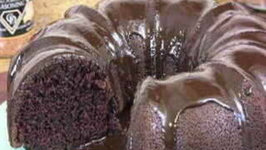 Chocolate Sour Cream Cake with Chocolate Ganache