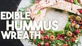 Edible HUMMUS HOLIDAY wreath