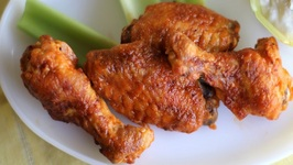 Baked Chicken Wings- Healthy Hot Wings!