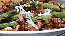 Asparagus with Bacon and Parmesan - English Grill and BBQ Recipe