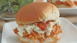 Sweet and Spicy Pulled BBQ Chicken Sandwiches