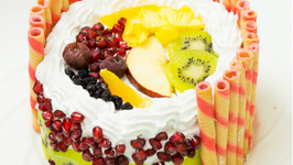 Eggless Fresh Fruit Cake - Fruit Pastry Recipe - Pressure Cooker Cake - Eggless Baking Without Oven