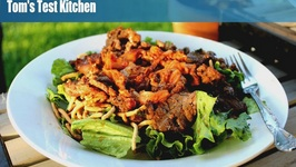 Bulgogi salad with grilled Kim Chee