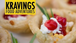 Goat Cheese With Rosemary And Pomegranate Tarts - 12 Days Of Christmas