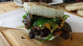 Bulgogi Steak Sandwich With Coconut Rice Buns- Korean BBQ: 불고기