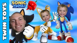 Dad vs Twins Lets Play Sonic Dash IOS Trinidad Scorpion Pepper Challenge