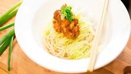 Chinese Noodles in Black Bean Sauce Recipe, Jjajangmyeon, Zhajiangmian, The Taste of Home