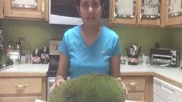 Cutting Open a Jackfruit