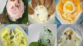 7 Indian Ice Cream Recipes - Flavors- Pan, Chikoo, Mango, Badam Anjir, Pudina And Kesar Pista