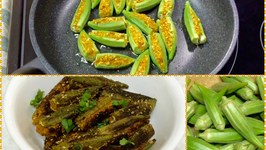 Kurkuri Bhindi - Crispy Okra  Quick version of Stuffed Okra