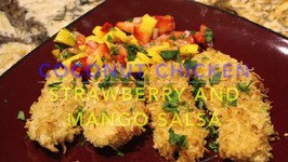 Coconut Chicken With Strawberry And Mango Salsa
