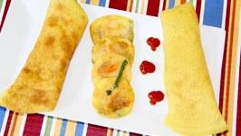 Rava Besan Dahi Cheela/ Chilla/ Puda/ Pudlas/ Semolina Chickpea Flour Savory Pancakes