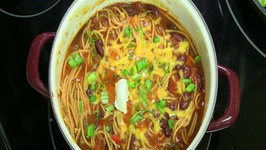 One Pot Chilighetti Chili Spaghetti Meal Menu with Mezzetta Napa Valley Pasta Sauce