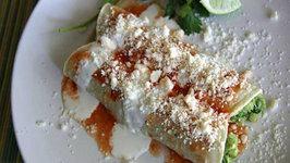 Vegetarian Enchilada - Enchiladas Bandera