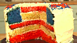 House of Cards Hidden American Flag Cake