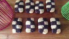 Checkerboard Cookies Holiday Baking