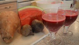 How to Make Beet Sweet Potato and Watermelon Juice