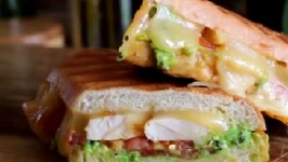 Chicken Panini with Pea & Mint Pesto and Smoked Gouda recipe