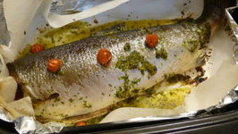 Baked Whole Coho Salmon
