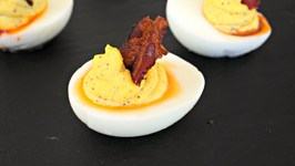 Appetizer Recipe Deviled Eggs With Pepper Jelly And Bacon
