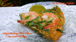 Asian Shrimp And Chives Omelette