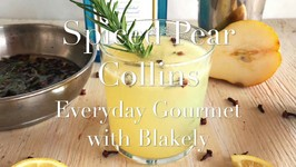 Cocktail Recipe-Spiced Pear Collins