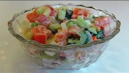 Betty's End of Summer Vegetables with Cucumber Dressing