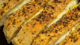 Cheesy Garlic Bread Sticks Recipe - Stuffed Garlic Bread Sticks