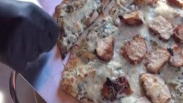 Smoked Chicken-Artichoke-Spinach Pizza  Grill Dome Summer Pizza Series