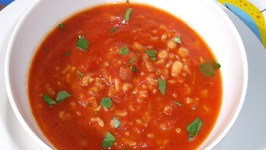 Quick Tomato and Rice Soup