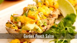 90 Second Garden Peach Salsa