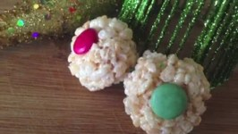 Easy Rice Krispie Snowballs Holiday Treats