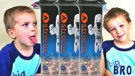 Astrorox Astronaut Freeze Dried Ice Cream Taste Test - Kids Candy Review with Eli and Liam