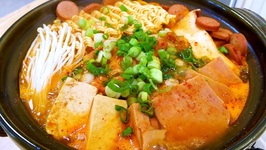 The Famous Korean Army Stew (Budae Jjigae)