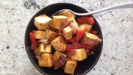 Easy Tofu Chilli- Quick Appetizer Ideas