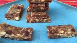Khajur Burfi Recipe - Dates and Dry Fruit Burfi - Navratri Special
