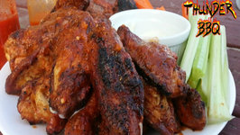 Char-Grilled Garlic Parmesan Hot Chicken Wing - How To Grill The Perfect Wing On a Mini WSM
