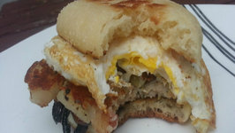Cheese And Sausage Breakfast Sandwich - Easy To Make Sandwich On The Euro-Q