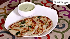 Bread Uthappam - Instant Quick Indian Breakfast Recipe