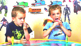 Twin Kids React to Extreme Sour Soda Pop Taste Test Super Sour Powder Candy Review