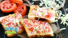 Onion, Tomato and Cheese Open Toast