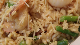 HelloFresh Shrimp with Asparagus and Risotto