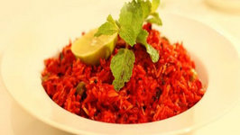 Beetroot Red Rice - Red Pulao - Healthy Vegetarian South Indian